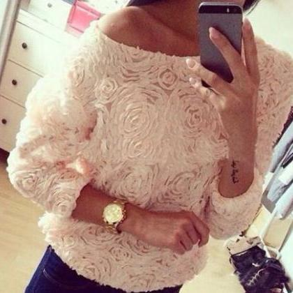 Rose -Sleeved T-Shirt VG10