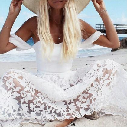 Sweet white mesh two-piece dress FG..