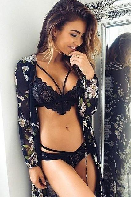 Fashion Sexy Sling Lace Underwear Top