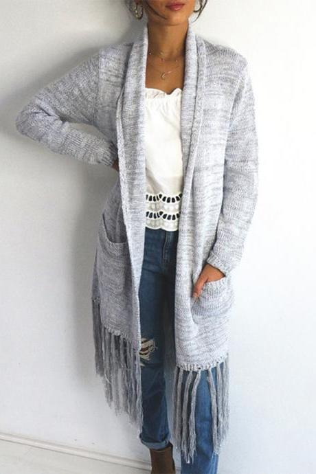Cardigan Long Sleeve Loose Knit Sweater Jacket
