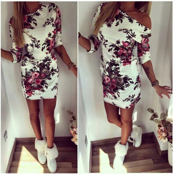 Fashion Printed Mini Dress